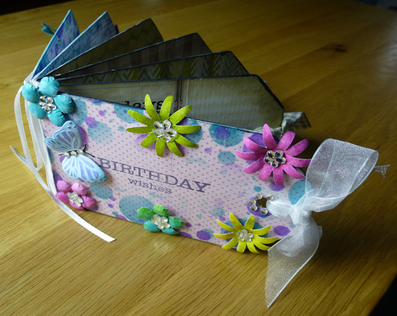 Birthday book using Woodware products