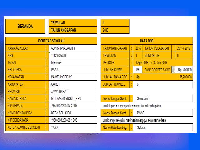 SILABOS - Aplikasi Laporan BOS Terbaru 2016 SD/MI, SMP/MTS,SMA/MA dan SMK