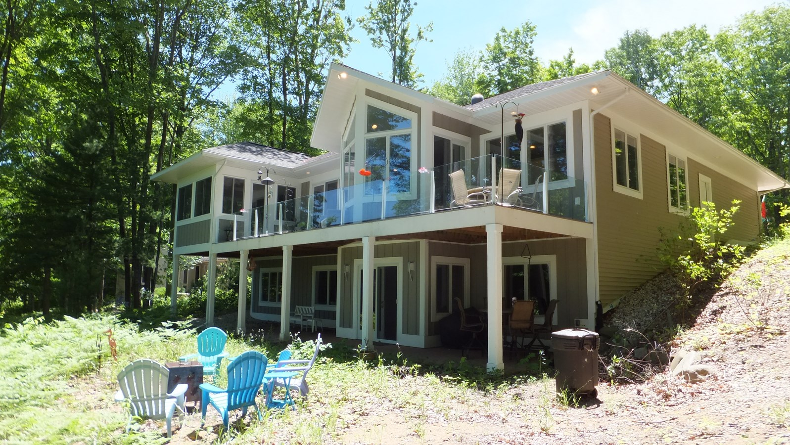 Leed for homes platinum turtle lake cottage up for sale for Leed cabins