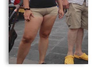 Sexy señora nalgona shorts pegados