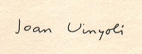 Joan Vinyoli - signatura
