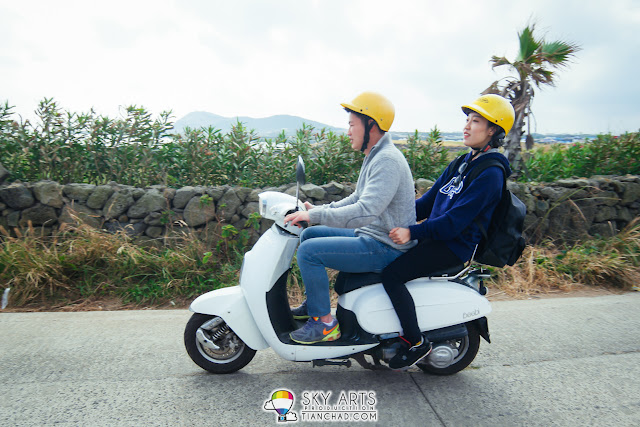 Scooter is a better choice to explore Udo Island