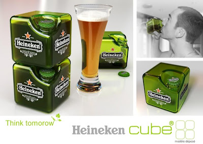 botella de cerveza cuadrada.