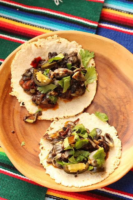 tacos huitlacoche mexique recette