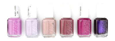 Essie nail polish varnish splash of grenadine nice is nice lady like angora cardi big spender sexy divide