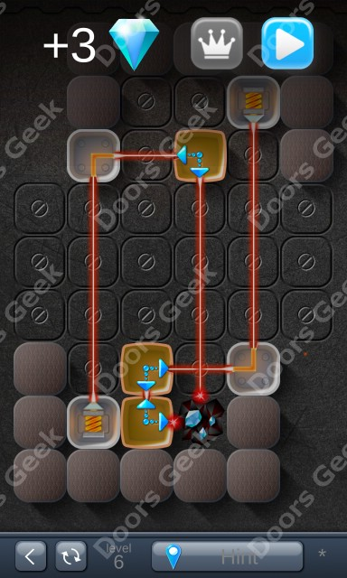 Solution for Laser Box - Puzzle (Basic) Level 6