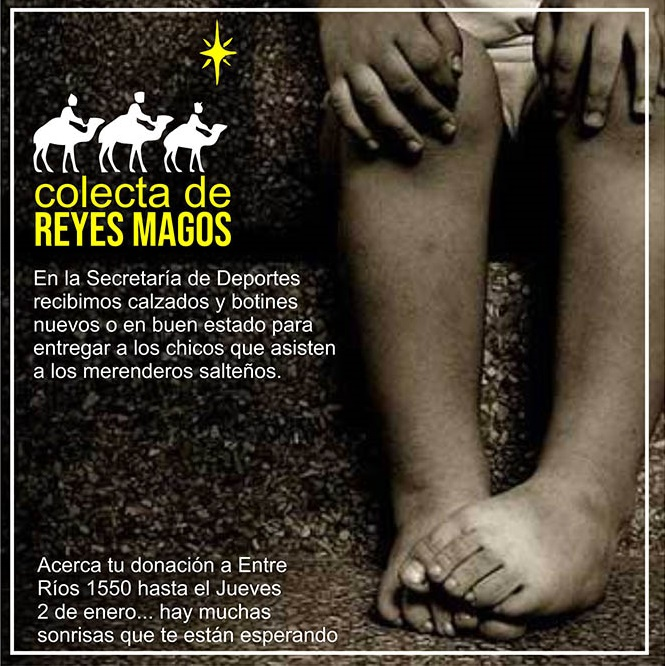 Colecta solidaria: Los Reyes Magos pasarán por los Merenderos
