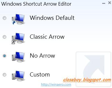 Tanda Panah Shortcut Editor