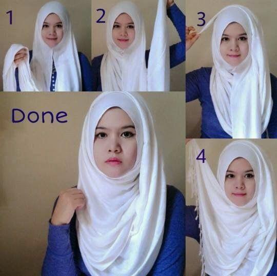 Inilah Cara menggunakan jilbab pashmina simpel