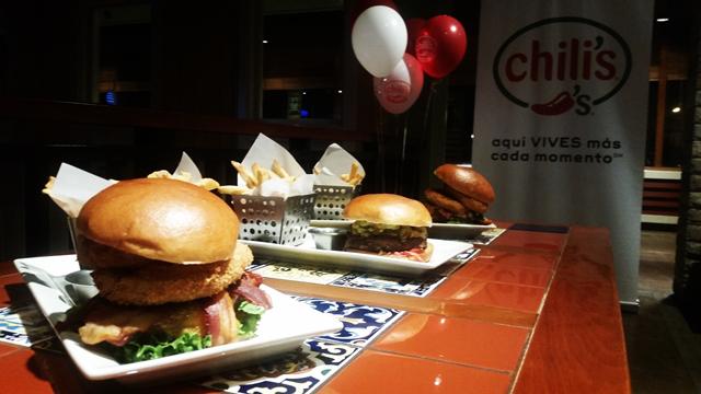 Chili's Perú burgers