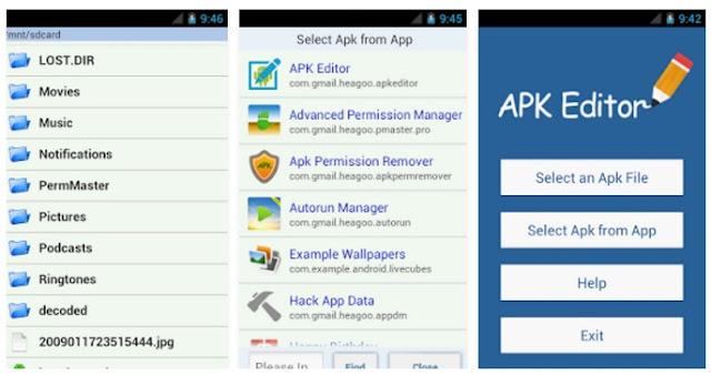 التعديل علي تطبيقات الاندرويد وتعريبها بواسطة هذا التطبيق APK Editor
