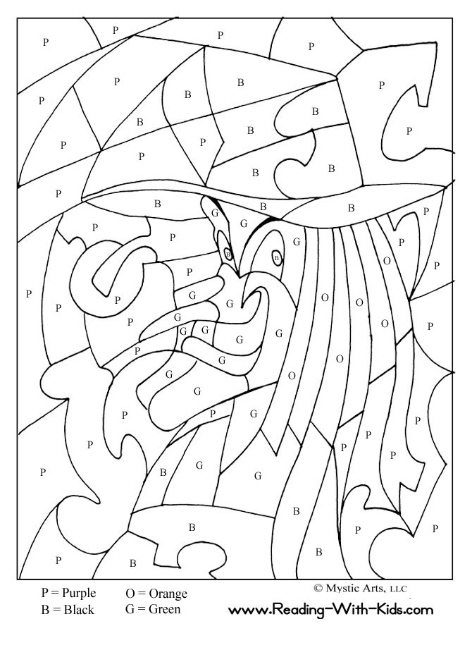 Coloriage magique lecture cp liberate for Free printable halloween color by number pages