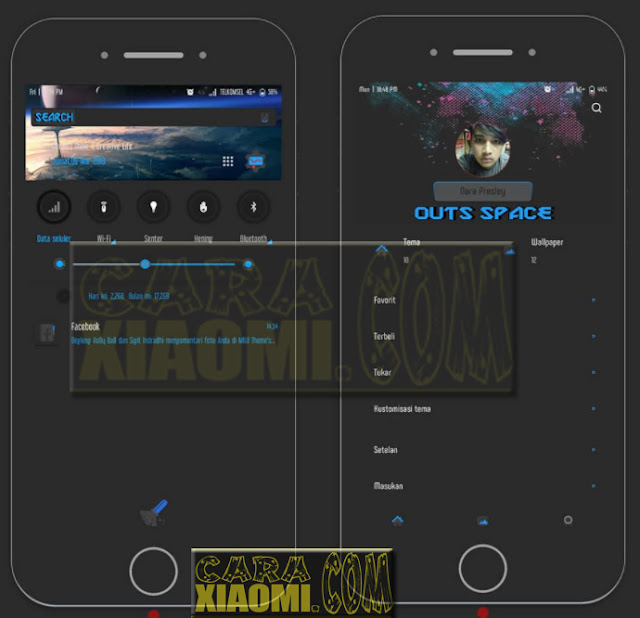 Download MIUI theme Outs Space Mtz