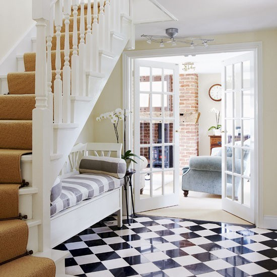 Traditionalhome Design Ideas: Return To Home: The Black And White Checkered Floor