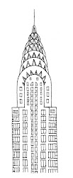 drawings chrysler building architectural drawing illustrator draw york simple doodle thibaud herem buildings sketch state empire nyc google line painting