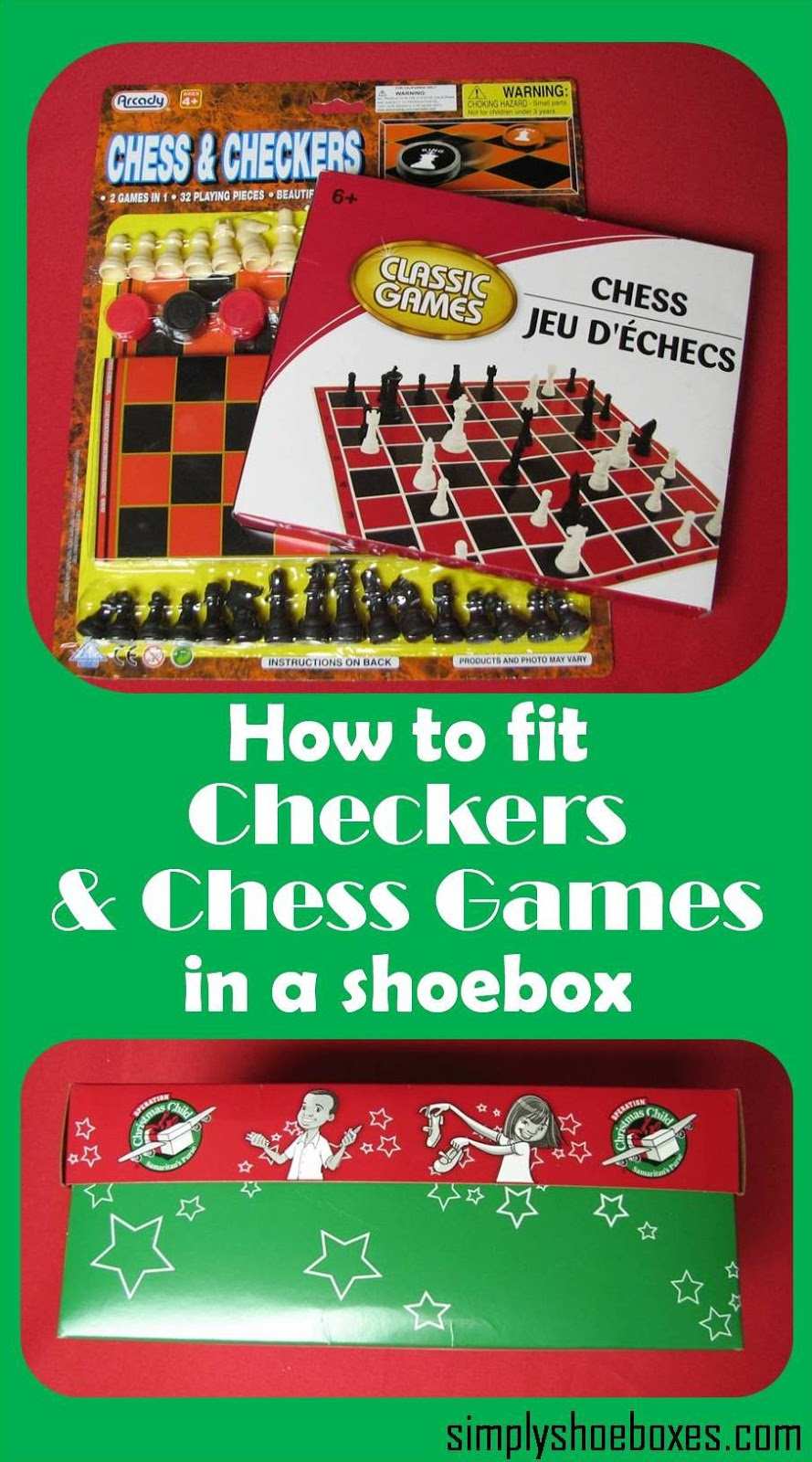 Christmas Operation Game.Fitting A Chess Or Game In An Operation Christmas Child Go