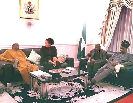 Buhari is not Dead As Amosun Paid Him a Visit in London
