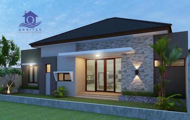 Desain Eksterior Rumah Bapak Wawan di Lombok