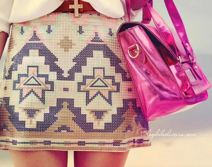 1e4cd553a WD Multimarcas e suas roupas de muito bom gosto rs!!! Semana passada  publiquei uma calça étnica lembram  Hoje mostro essa saia tribal e blusa de  seda muito ...