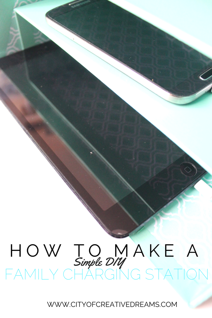How To Make A Simple DIY Family Charging Station   City of Creative Dreams