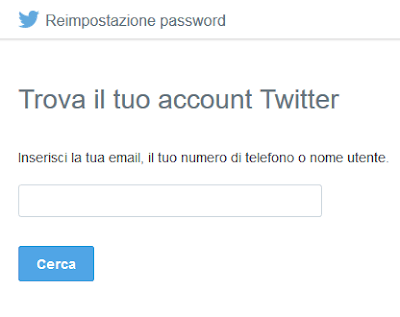 Come recuperare la password di Twitter