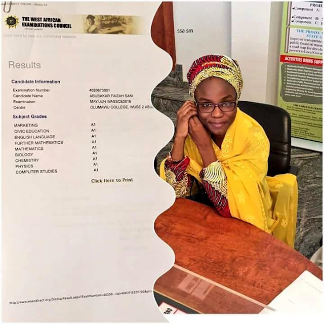 Photos: Kano state gov offers scholarship to female student who had A1 in all her 9 registered WAEC subjects