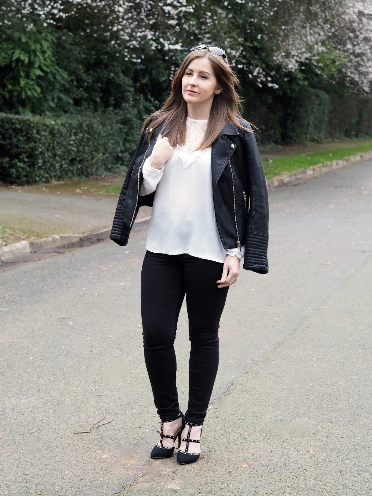 biker jacket fashion Miss Selfridge H&M style trend Priceless Life of Mine Over 40 lifestyle blog