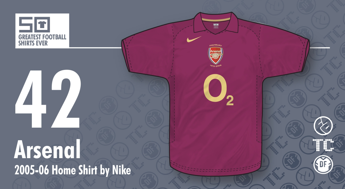 1fc633719a2 The Football Attic   50GFSE   42 - Arsenal 2005-06 Home Shirt by Nike