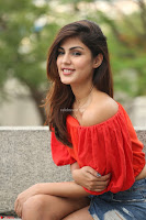 Rhea Chakraborty in Red Crop Top and Denim Shorts Spicy Pics ~  Exclusive 276.JPG