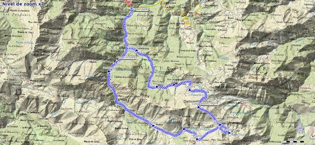 Mapa de la ruta de los Arrudos y Corteguerón