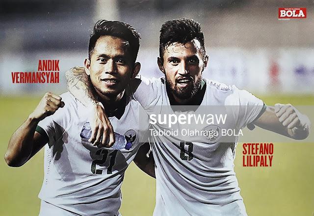ANDIK VERMANSYAH DAN STEFANO LILIPALY INDONESIA 2016