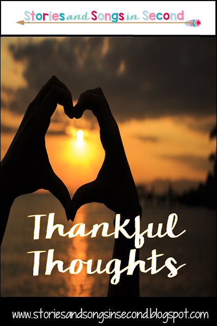 November is a time to let thankful thoughts remind you of all that is grateful and good both in your personal and teaching life!