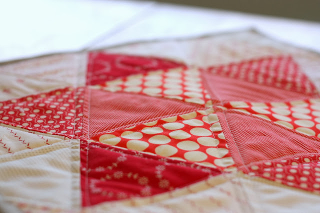 Triangle star quilt block tutorial