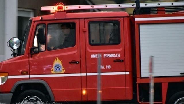 Πυρκαγιά σε περιπολικό - Σώοι οι αστυνομικοί