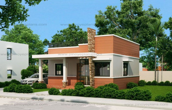 10 bungalow single story modern house with floor plans for Small house design worth 300 000 pesos