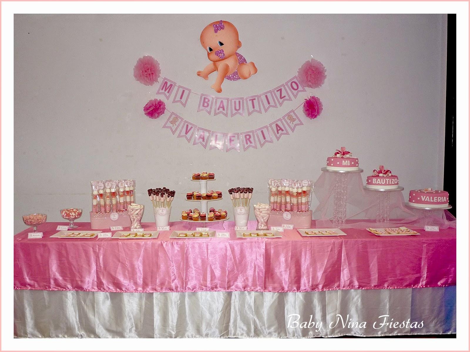 Baby nina fiestas febrero 2015 for Mesa de dulces para bautizo de nina