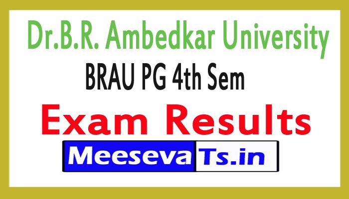 Dr.B.R. Ambedkar University BRAU PG 4th Sem Exam Results 2017