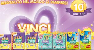 Logo Pampers : vinci un anno di pannolini gratis