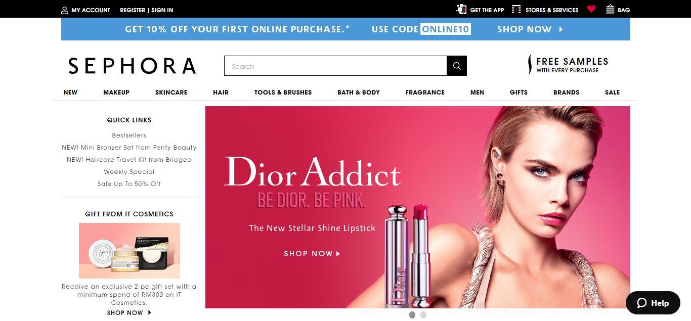 Sephora e-commerce