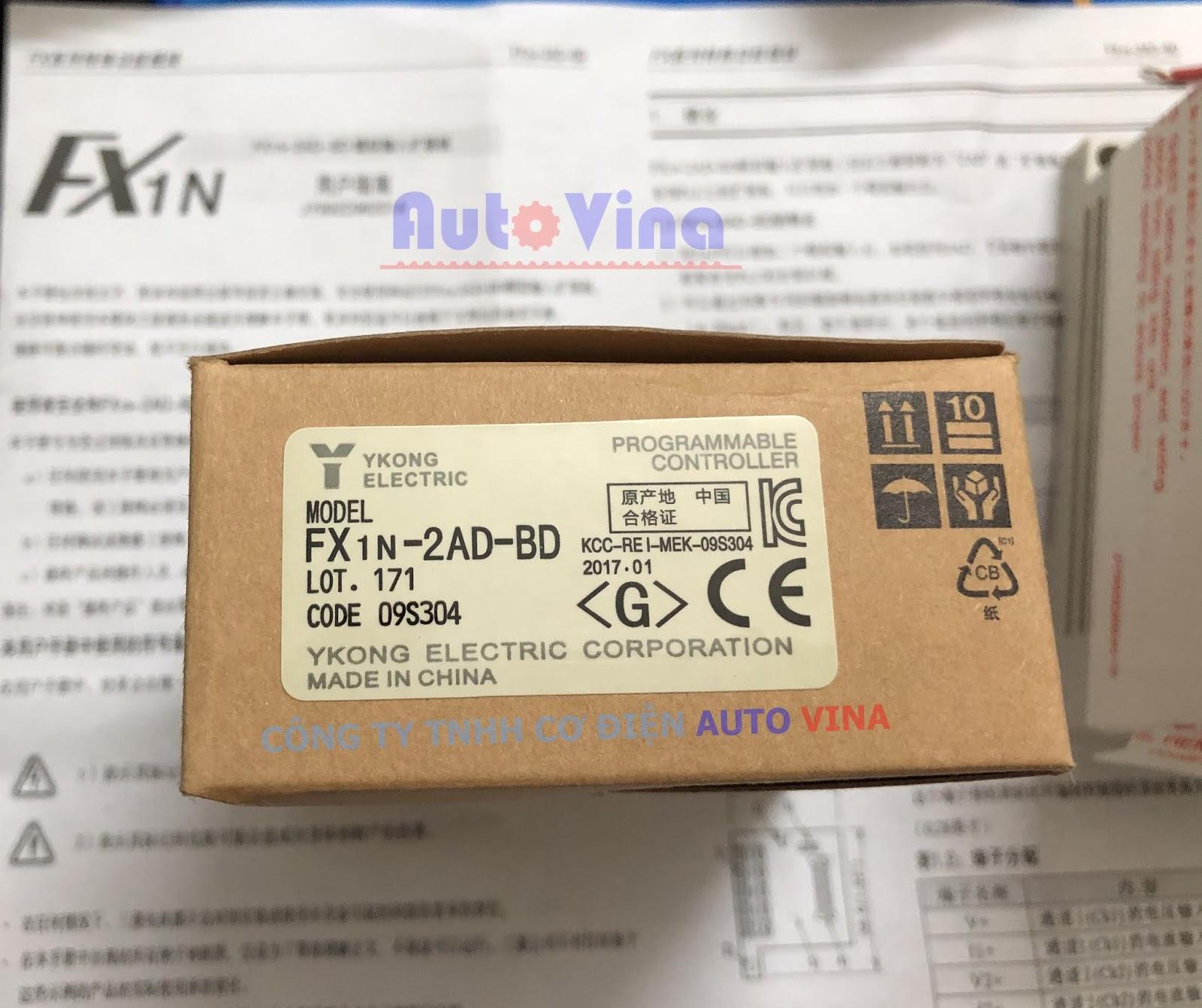 Vỏ hộp FX1N-2AD-BD analog input expansion board hàng mới, đầy đủ tài liệu hướng dẫn