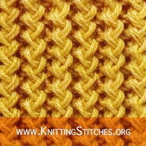 Twistted Knitting Stitches. ZigZag effect and Rib pattern. Knitting Zig Zag Rib