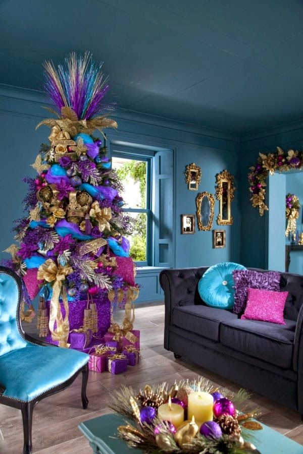 rbol navidad lleno de color