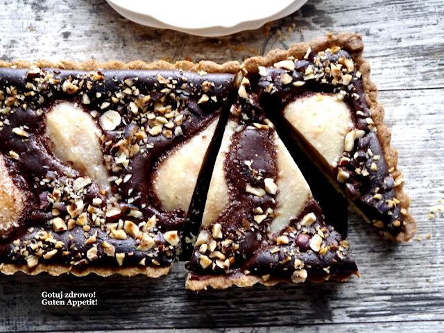 Tarta czekoladowo-orzechowa z gruszkami ( wypieki bez cukru) - Czytaj więcej »