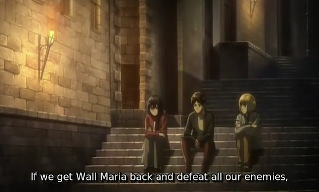 Eren, Mikasa and Armin - Attack On Titan Season 3 Episode 12