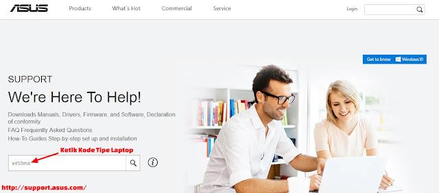 situs asus.com untuk download file update bios