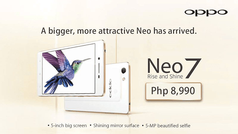 Breaking News! Oppo Neo 7 Now In PH! Priced At Just 8,990 Pesos!