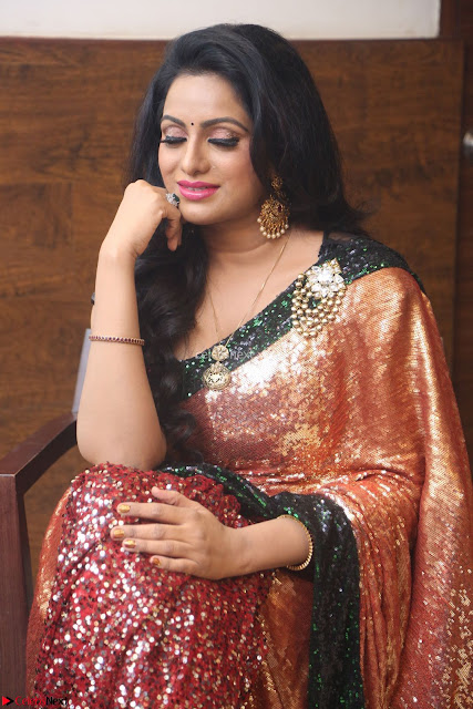 Udaya Bhanu lookssizzling in a Saree Choli at Gautam Nanda music launchi ~ Exclusive Celebrities Galleries 006.JPG