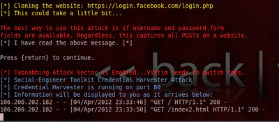 Hack Facebook/Gmail Using Advanced Phishing Method in Backtrack 5