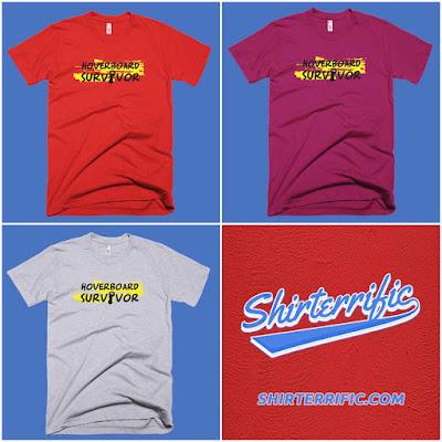 Hoverboard Survivor Pop Culture Shirts