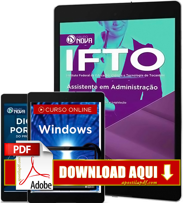 Apostila IFTO 2016 PDF Download Assistente em Administração PDF